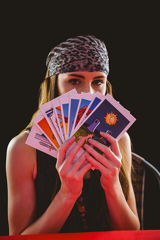 inbound vs outbound marketing - Fortune teller tarot cards