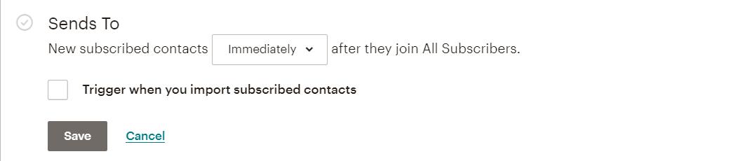 MailChimp sends to when