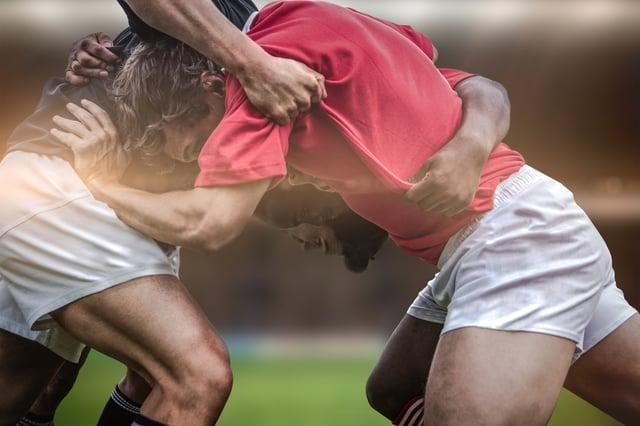 SEO vs. Inbound Marketing Rugby scrum
