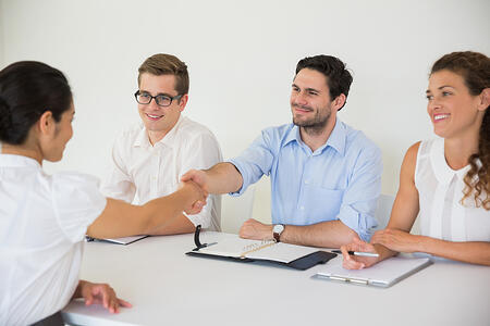 how to develop a healthcare buyer persona - shaking hands