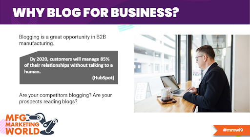 blogging for manufacturers