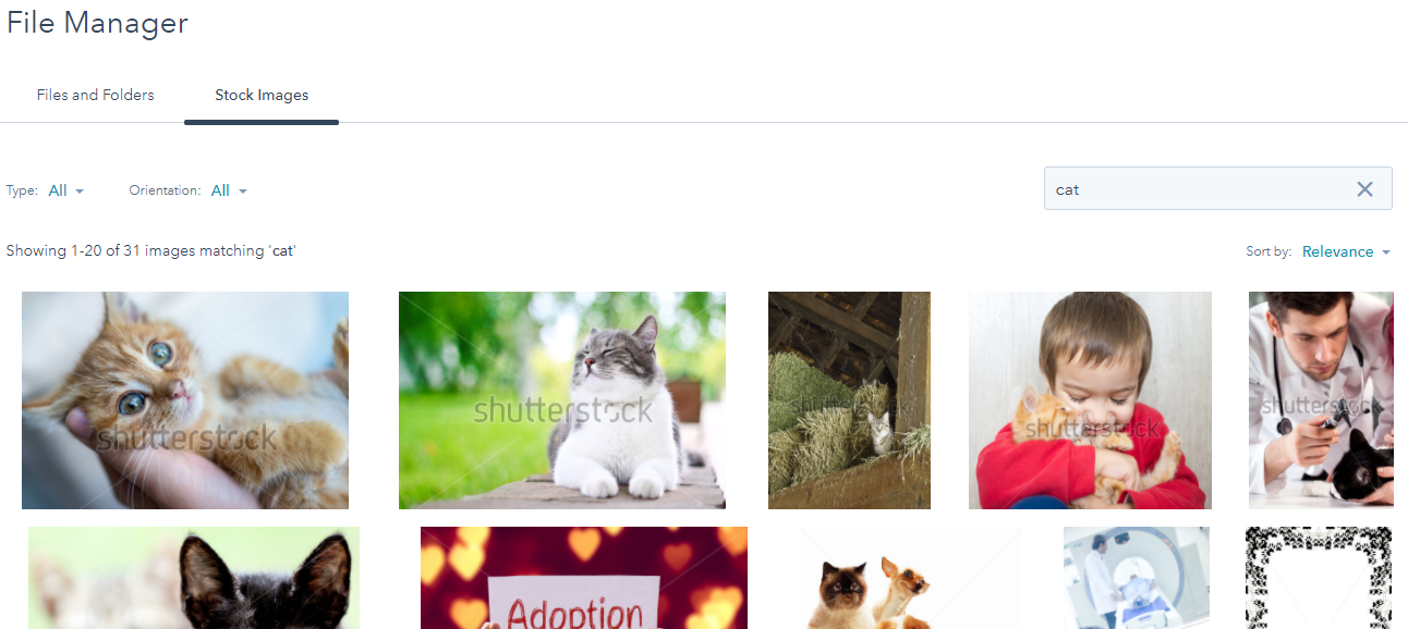 SelectingStockPhotosInHubSpotCOS