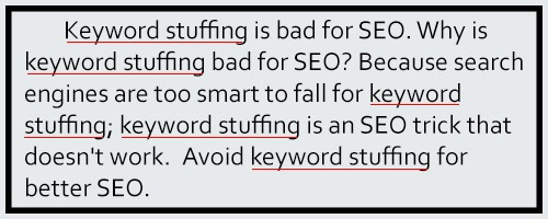 content marketing mistakes keyword stuffing