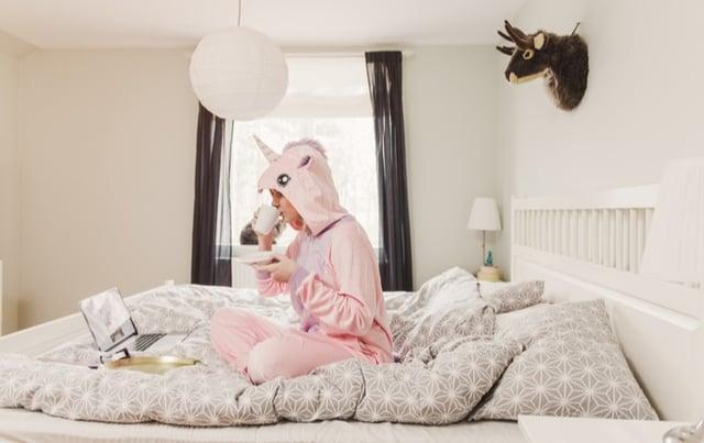 google ads agency - woman in unicorn costume