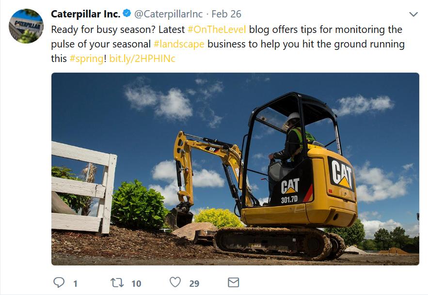 manufacturing marketing Caterpillar