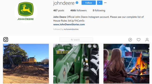 manufacturing marketing John Deere