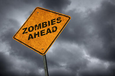 website copywriting - saas medical content marketing - zombies