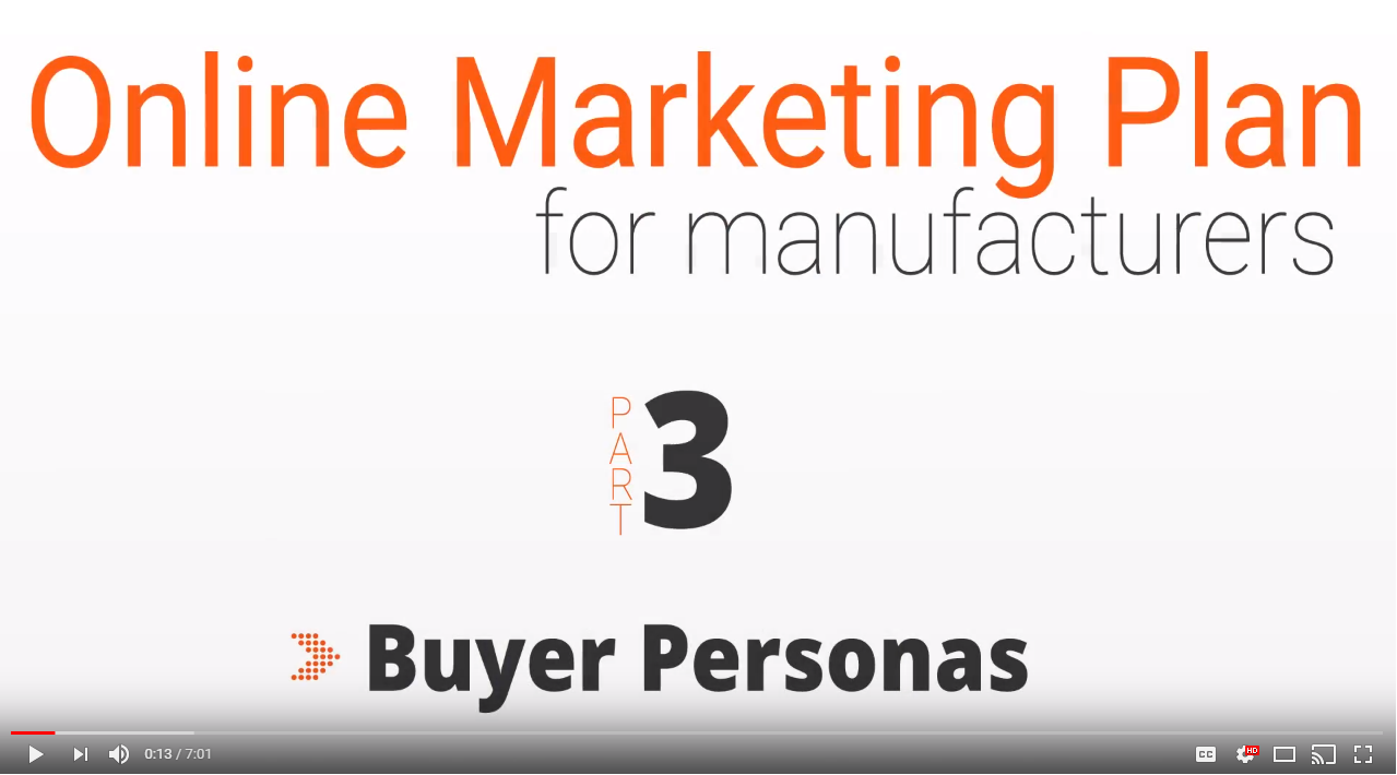 Building a Buyer Persona - Step 3 in an Online Marketing Plan for Manufacturers (VIDEO)