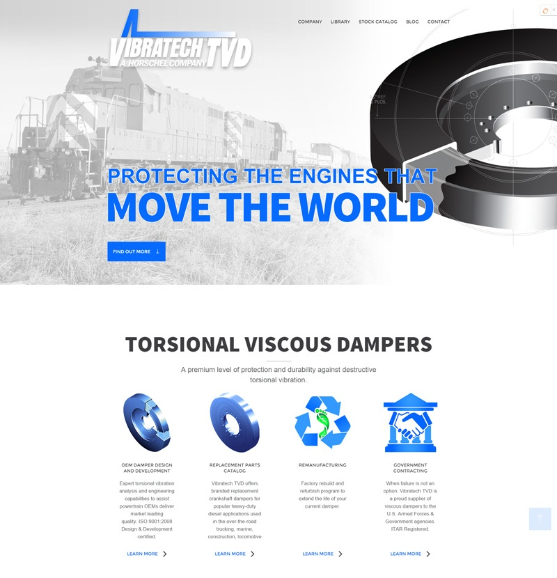 Vibratech TVD Website Launch