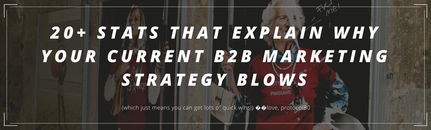 33 B2B Marketing Statistics Show Why Your Current Strategy Blows