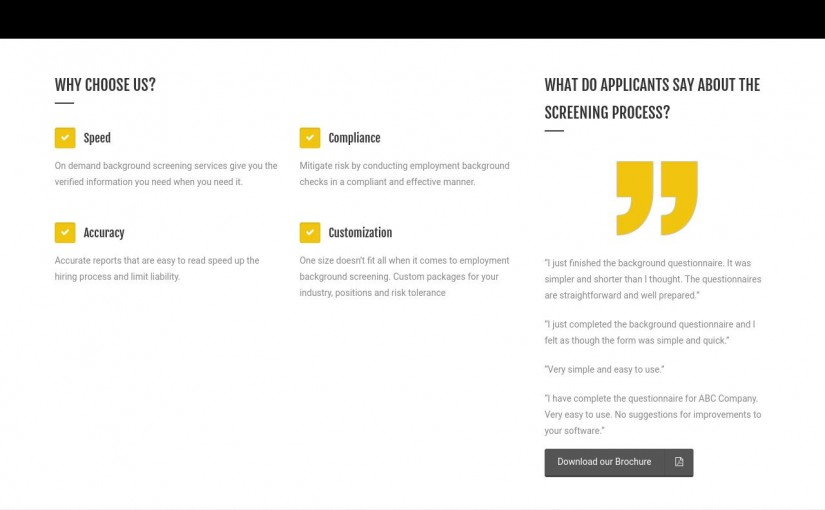 Santoni Worldwide – Employment Background Check Microsite